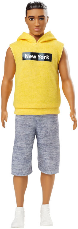 Barbie Ken Fashionistas Doll #131 - Yellow Hoodie