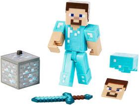 Minecraft Comic Maker Steve In Diamond Armor Action Figure - English Edition