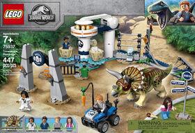 LEGO Jurassic World La fureur du Tricératops 75937