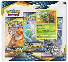 Pokemon Sun & Moon 10 Unbroken Bonds 3-Pack Blister - Sceptile