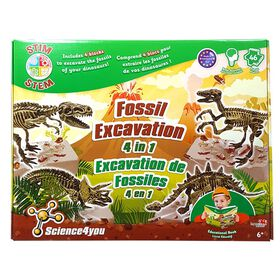 Science4you - Fossil Excavation 4 in 1