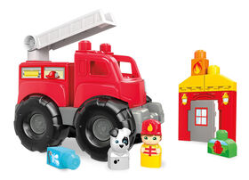 Mega Bloks Fire Truck Rescue Building Set