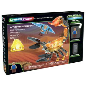Laser Pegs Creatures Collection - Scorpion Standoff 170 Pieces