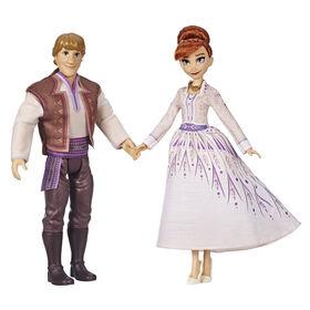 Disney Frozen - Poupées mannequins Anna et Kristoff