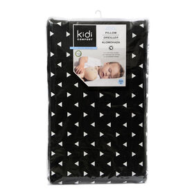 Kidicomfort Memory Foam Toddler Pillow Washable Cover  - Black