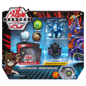 Bakugan, Battle Pack 5 personnages, Aquos Nobilious and Darkus Krakelios