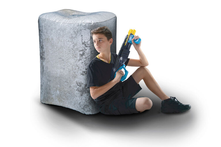 BUNKR Inflatable Concrete Block for Blaster Battles
