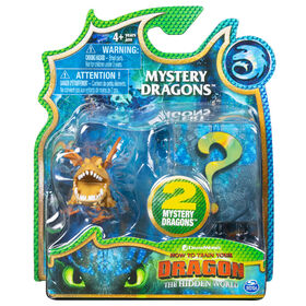 How To Train Your Dragon, Meatlug Mystery Dragons 2-Pack, Collectible Dragon Figures