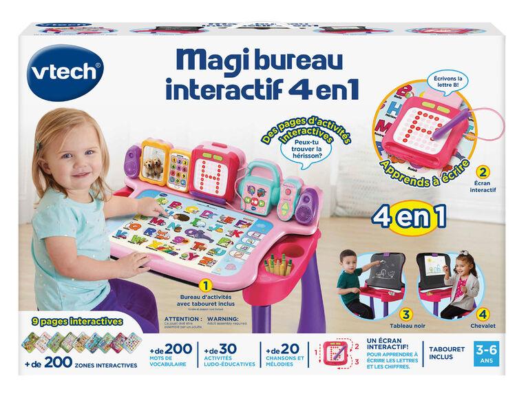 Vtech Magi Bureau Interactif 4 En 1 Rose Exclusif Edition Francaise