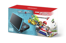 2DS - New Nintendo 2DS XL - Black + Turquoise w/ Mario Kart 7 Pre-installed