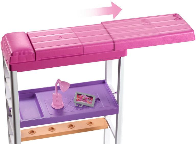 Barbie Doll & Loft Bed Set