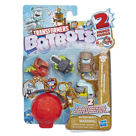 Transformers BotBots, Les Technos gourmets, emballage de 5 figurines mystère.