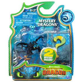 How To Train Your Dragon, Toothless Mystery Dragons 2-Pack, Collectible Dragon Figures