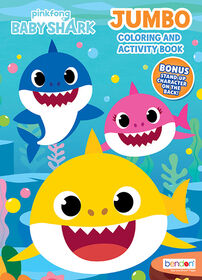 Baby Shark 64 page Jumbo Colouring and Activity Book