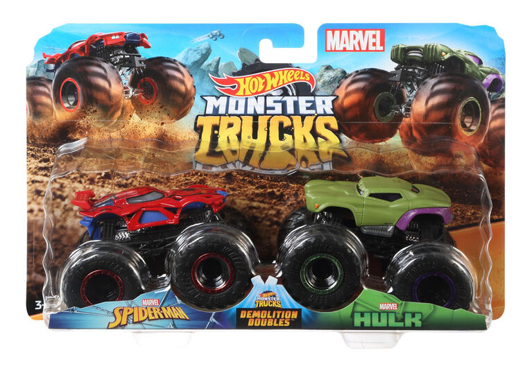 Hot Wheels Monster Trucks Demolition Doubles 2-Pack - Styles May Vary - English Edition