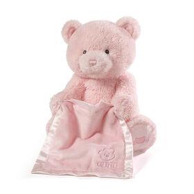 Baby GUND Peek-A-Boo My 1st Teddy Pink Bear Animated Plush Stuffed Animal, 11.5 inch