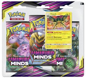 "Pokemon Sun & Moon 11 ""Unified Minds"" 3-Pack Blister - Vikavolt"