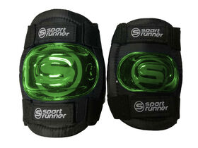Sport Runner Small/Medium Knee and Elbow Pad Set- Green - R Exclusive