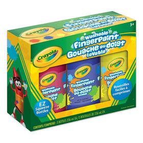 Crayola Washable Fingerpaint 3-Pack