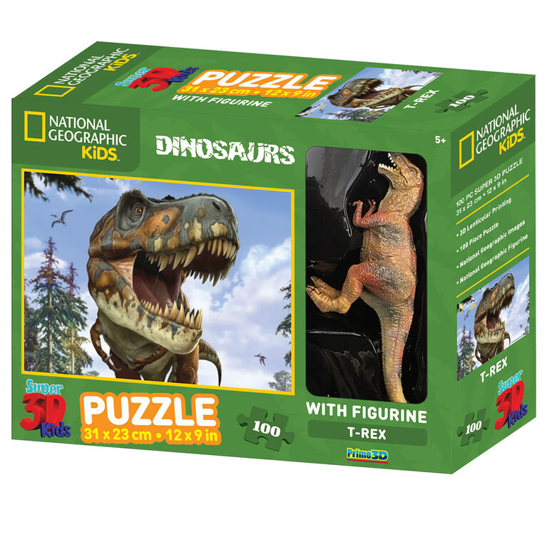 National Geographic - Tyrannosaurus 100 Piece Puzzle with figurine