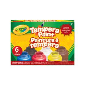Crayola Tempera Paint, 6 Count