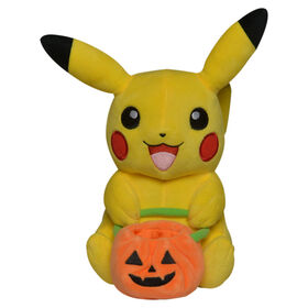 Pokémon 8 inch Seasonal Plush - Pikachu Pumpkin Bag - R Exclusive