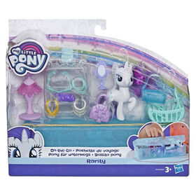 My Little Pony On-the-Go Rarity - Figure with 14 Accessories and Storage Case