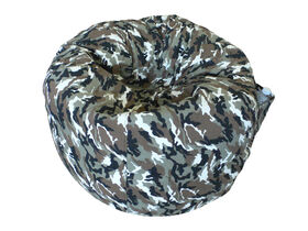 Boscoman - Cotton Round Shaped Bean Bag - Camo Desert