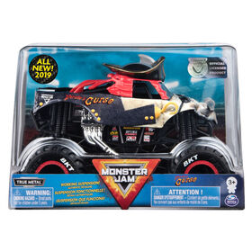 Monster Jam, Official Pirate's Curse Monster Truck, Die-Cast Vehicle, 1:24 Scale