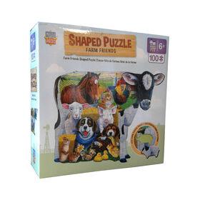 Farm Friends Shaped Puzzle
