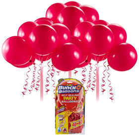 Bunch O Balloons 24 x 11 Inch Self-Sealing Latex Party Balloons - Red
