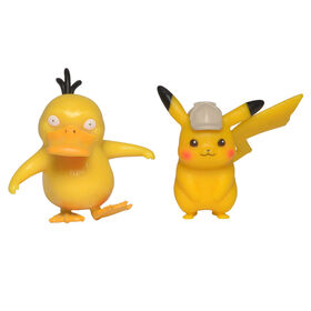 "Detective Pikachu Battle Figure Packs - 2"" Pikachu #2 & 2"" Psyduck"
