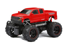 New Bright 1:18  Scale  RC Chargers CHEVROLET SILVERADO  Radio Control Truck - RED
