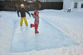 "Simple Rinkâ""¢ 10' x 20' Backyard Skating Rink"