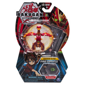 Bakugan Ultra, Pyrus Serpenteze, 3-inch Tall Collectible Transforming Creature