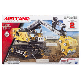 Meccano-Erector, 2-in-1 Model Set, Excavator and Bulldozer