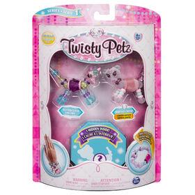 Twisty Petz - 3-Pack - Butterscotch Unicorn, Berry Tales Cheetah and Surprise Collectible Bracelet Set for Kids