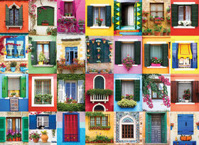 Eurographics Mediterranean Windows 1000 Piece Puzzle
