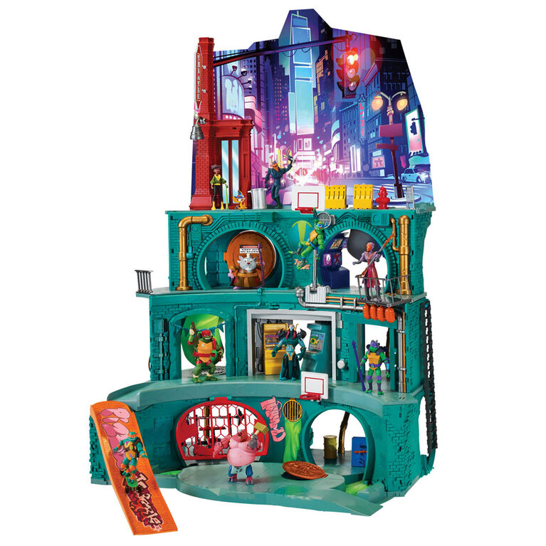 Rise of the Teenage Mutant Ninja Turtles - Epic Sewer Lair Playset - Exclusive - R Exclusive