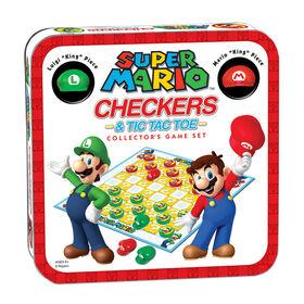 Checkers & Tic Tac Toe: Super Mario Collector's Game Set