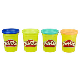 Play-Doh Modeling Compound 4-Pack of 4-Ounce Cans (Wild Colors)
