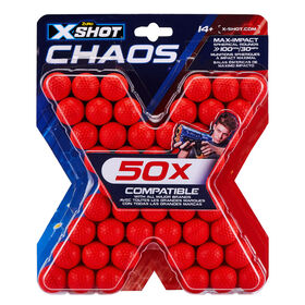 Zuru X-Shot Chaos Round Blaster Refill Pack - 50 Rounds