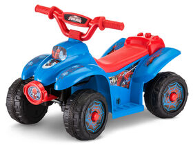 Kid Trax 6V Marvel Spiderman Quad - Blue