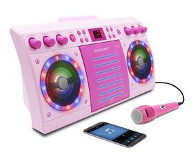 iKARAOKE Bluetooth CD+G Karaoke System, Pink
