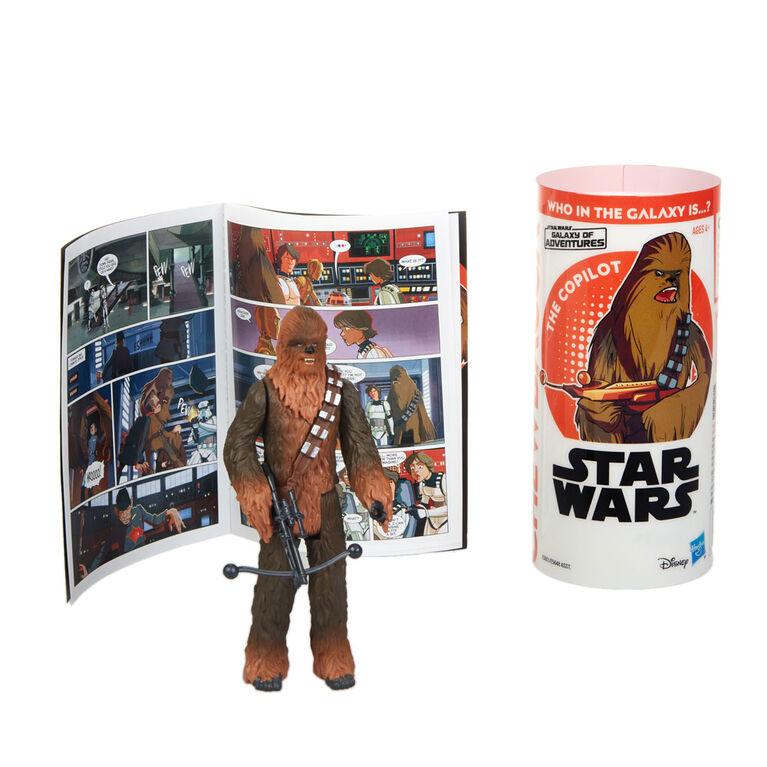 Star Wars Galaxy of Adventures Chewbacca Figure and Mini Comic