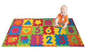 Tapis de jeu puzzle animaux et chiffres
