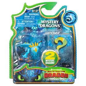 How To Train Your Dragon, coffret de 2 Mystery Dragons Tempête, figurines dragons à collectionner.
