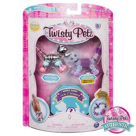 Twisty Petz - 3-Pack - Razzle Elephant, Cakepup Puppy and Surprise Collectible Bracelet Set for Kids