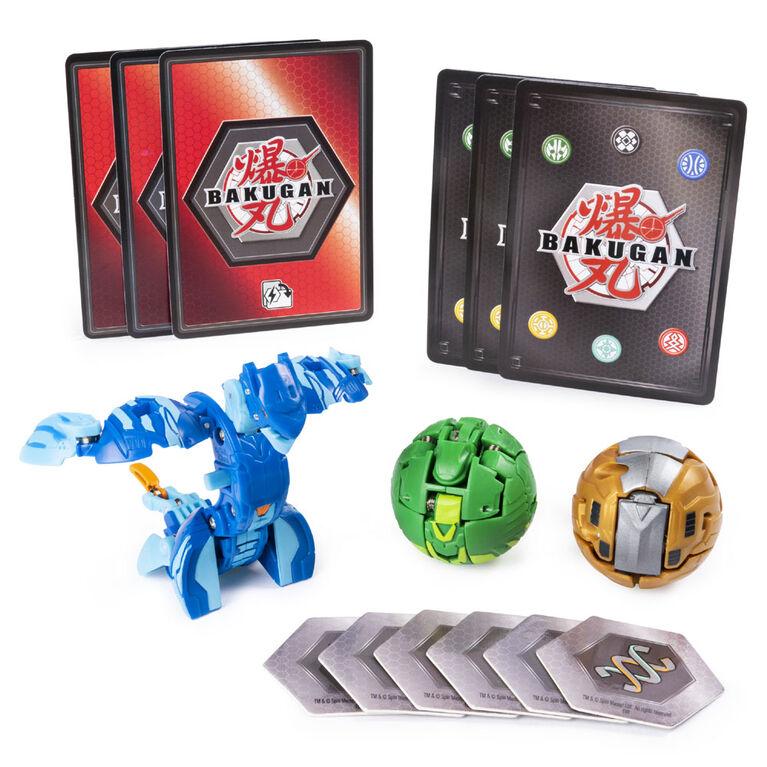 Bakugan Starter Pack 3-Pack, Serpenteze, Collectible Transforming Creatures