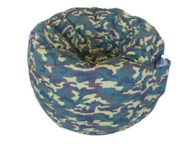 Boscoman - Cotton Round Shaped Bean Bag - Camo Green
